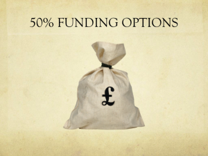 50% Funding Options